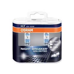 H7 Автолампа OSRAM Night Breaker Unlimited, 12v, 55w, +110% 2шт.