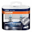 HB4 Автолампа OSRAM Night Breaker Unlimited, 12v, 51w, +110% 2шт. 9006NBU