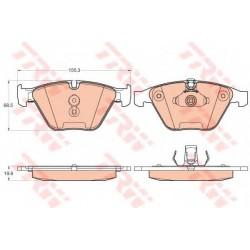 Комплект тормозных колодок, дисковый тормоз TRW GDB2021