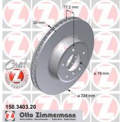 Передний вентилируемый тормозной диск, ZIMMERMANN 150.3403.20